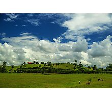 Clouds over the Hill House - Beautiful Landscapes Photographic Print