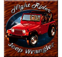 Jeep Wrangler Night Rider Photographic Print
