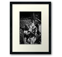 Apsara Dancer Meditation. Framed Print