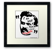 Nietzsche Dynamite Framed Print