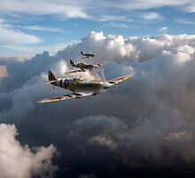 Spitfires among clouds by Gary Eason
