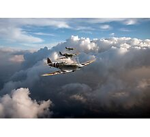 Spitfires among clouds Photographic Print