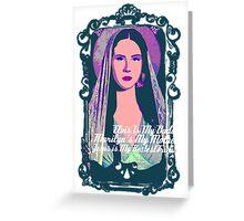Lana Del Rey - Body Electric Tropico Greeting Card