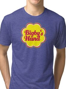 Bigby's Hand (Chupa Chups Logo) - Critical Role Quotes Tri-blend T-Shirt