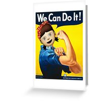 We Can Do It! - J. Howard Miller Greeting Card