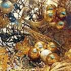 Golden Christmas balls by Arie Koene