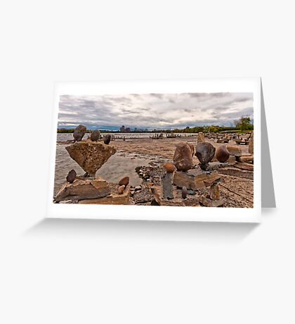 River Sculptures Greeting Card