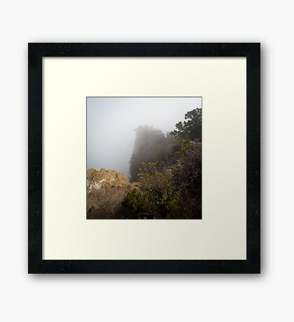 The Rare Grand Canyon covered with puffy fog Framed Print