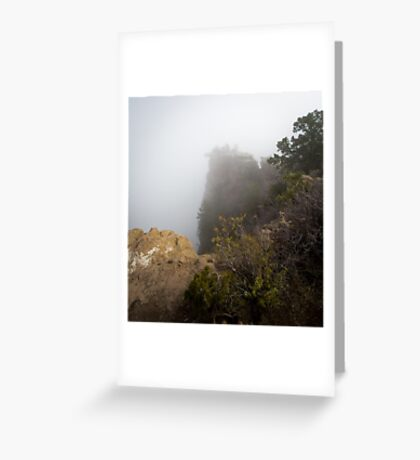 The Rare Grand Canyon covered with puffy fog Greeting Card