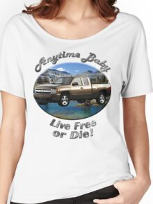 Chevy Silverado Truck Anytime Baby Women's Relaxed Fit T-Shirt