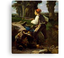 Pasquale Cova at Battle of Varese Canvas Print