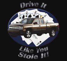 Chevy Silverado Truck Drive It Like You Stole It Kids Clothes