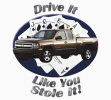 Chevy Silverado Truck Drive It Like You Stole It Kids Tee
