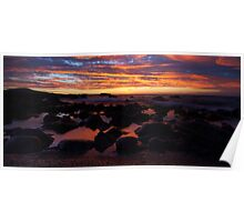 Sunset reflected glow Poster