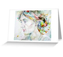 VIRGINIA WOOLF - watercolor portrait.4 Greeting Card