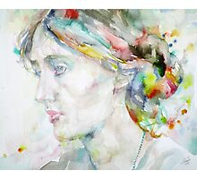 VIRGINIA WOOLF - watercolor portrait.4 Photographic Print