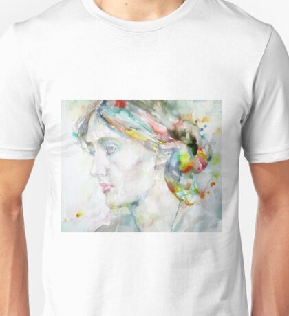 VIRGINIA WOOLF - watercolor portrait.4 Unisex T-Shirt