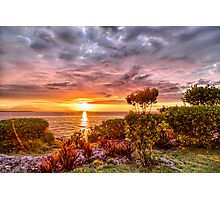 Beautiful Sunset Over the Ocean Photographic Print