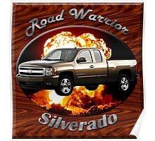 Chevy Silverado Truck Road Warrior Poster