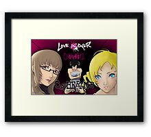 Catherine - Love is Over Framed Print