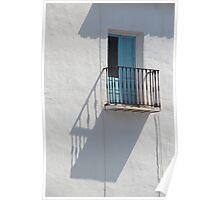 Sunlit balcony Poster
