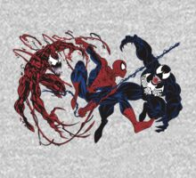 Carnage, Spider-man, Venom by pudgysquirrles