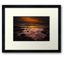 Kohala Coast Sunset Framed Print