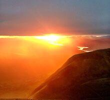 Sunset on Ben Nevis Scotland's Highest Mountain  by Natgobonastick