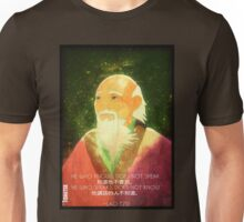 Lao Tzu, Wise, Wisdom, Confucius, Oldman, Quote, Epic, Words, Oriental Unisex T-Shirt