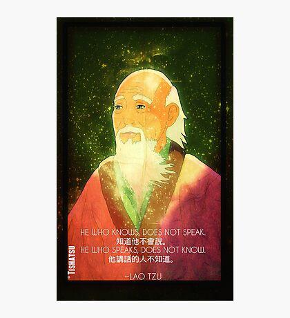 Lao Tzu, Wise, Wisdom, Confucius, Oldman, Quote, Epic, Words, Oriental Photographic Print