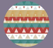 Vibrant textured triangles stripes pattern Kids Tee