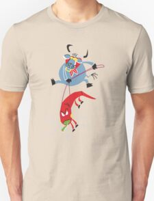 Cool Bull Riding A Hot Paprika!!! T-Shirt