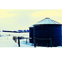 Small Silos Photographic Print