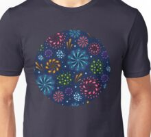 Fireworks pattern Unisex T-Shirt