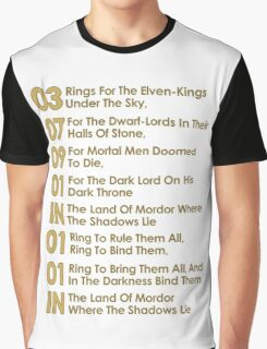 The Verse Of The Rings Graphic T-Shirt