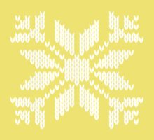 Knitted Snowflake One Piece - Short Sleeve