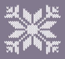 Knitted Snowflake Kids Clothes