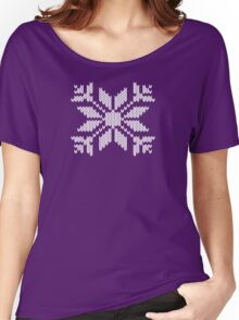 Knitted Snowflake Women's Relaxed Fit T-Shirt