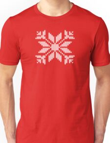 Knitted Snowflake Unisex T-Shirt
