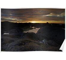 Tidal Sunset Poster