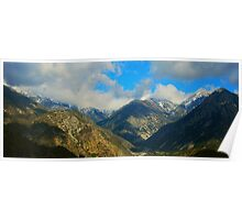Light Snow and Low Clouds Poster