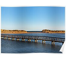 Lossiemouth footbridge to beach. Poster