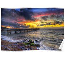 Totland Pier Sunset Poster