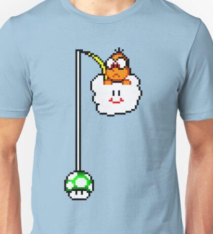 Fishing Lakitu (Black Lines) Unisex T-Shirt