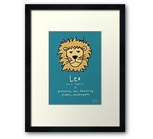 Star Signs: Leo Framed Print