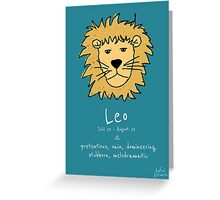 Star Signs: Leo Greeting Card