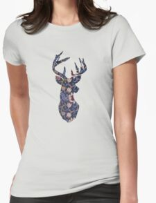 Textile deer #2 Womens Fitted T-Shirt