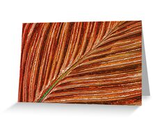 Abstract Canna Leaf Greeting Card