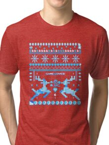 Game Over - 8-bit Ugly Christmas Sweater Tri-blend T-Shirt