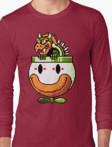 Bowser and Clown Copter Long Sleeve T-Shirt